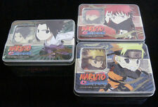 Naruto Ultimate Battle TCG CCG Collector Tin Set - 3 Tins - Rare Cards