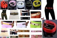 Wholesale Lot 75 pcs Women Fashion Belts Leather Fur Venyl Mixed Colorful NEW