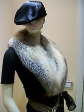 COLLO DI VOLPE FOX FUR SHAWL COLLAR FORRURE RENARD FUCHS PELZ SCHAL NEW !