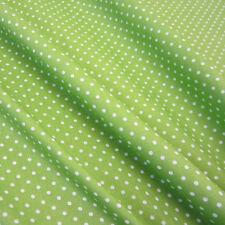 Stoff Meterware Punkte 2 mm apfelgrün grün maigrün weiß Baumwolle  Petticoat