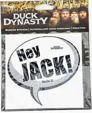 New A&E Duck Dynasty Bumper Sicker Decal Hey Jack Uncle Si Authentic Auto Car