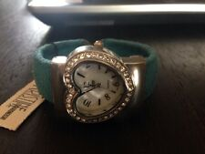Kristine Accessories Blue Suede Heart Watch