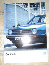 VW Golf range brochure Jan 1986 German text includes GTi