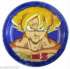 DRAGON BALL Z SMALL PAPER PLATES (8) ~ Birthday Party Supplies Cake Dessert Blue