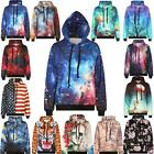 Unisex Galaxy Animal 3D Print Sweatshirt Jumper Hooded Hoodie Coat Outerwear Top