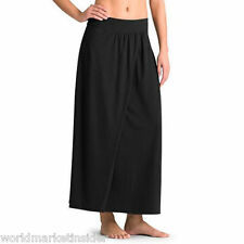 NEW $89 ATHLETA Faux-Wrap MAIA MAXI LONG SKIRT  BLACK Size SMALL