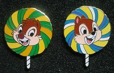CHIP AND DALE LE PINS FROM 2008 WDW LOLLIPOP MYSTERY PIN SERIES