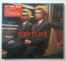 Pet Shop Boys Nightlife CD ed. limitada estuche carton + sobrecubierta PVC