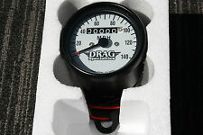 HONDA Mini Speedo BLACK / WHITE DRAG Speedometer gauges gauge  XS650 CB550 CB750
