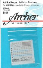 Archer German Afrika Korps Patches Medical Troop Transfers Decals FG35052E