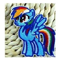 Rainbow Dash My Little Pony Embroidered Iron On / Sew On Patches Badge Transfers