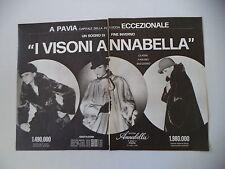 advertising Pubblicità 1979 PELLICCE PELLICCERIA ANNABELLA - PAVIA