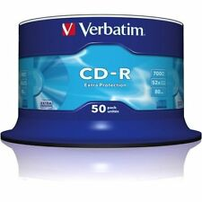 50 CD-R VERBATIM VERGINI 52X 700 MB EXTRA PROTECTION MEGA CD-R