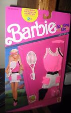 CUTE BARBIE SPORTING LIFE FASHIONS (TENNIS OUTFIT IN PINK) NEW IN PKG