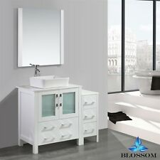 "BLOSSOM 30"" SYDNEY SINGLE SINK BATHROOM VANITY WITH VESSEL SINK WHITE COLOR"