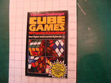 UNREAD Rubik Book:  CUBE GAMES 92 puzzles & solutions Taylor 1981, 49pgs FIRST E