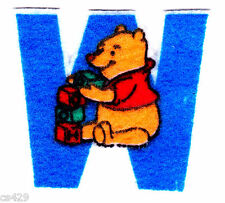 "2.5"" DISNEY WINNIE THE POOH  CHARACTER  MINI FABRIC APPLIQUE IRON ON"