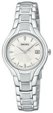 Seiko Women's Dress Silver-Tone Stainless Steel Japanese Quartz Watch SXDA33