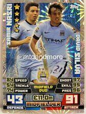 Match Attax 2014/15 Premier League - #410 Nasri / Silva - Duo