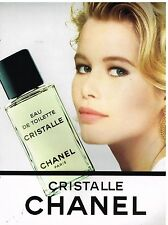 Publicité Advertising 1991 Eau de Toilette Cristalle Chanel Claudia Schiffer