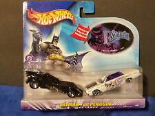 2003  Hot Wheels BATMAN vs PENGUIN  2 Car Set Includes Penguin Sticker