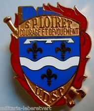 Insigne SAPEURS POMPIERS OBSOLETE FRANCE DEPARTEMENT LOIRET ORIGINAL