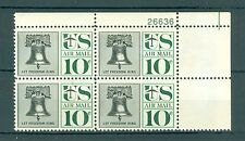 US C57 Let freedom ring 10c 1 plateblk of 4 stamps MNH issued 1959-66 #26636