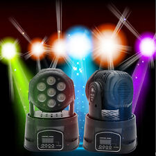 100W RGBW 7x10W LED Moving Head Light DMX-512 DJ XMAS Disco Stage Party Lighting