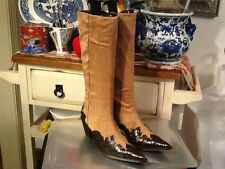 Donald J Pliner Western Couture Collection Made in Italy Tall Boots Size 6.5M