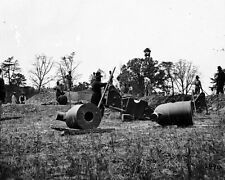 New 8x10 Civil War Photo: Mortar Cannon at Butler's Crows Nest on the James
