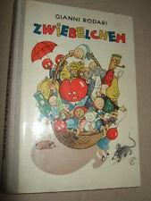 Zwiebelchen-una novela, g. Rodari, 1966, libro infantil, rda, imágenes S. texto