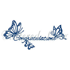 Tattered Lace Cutting Dies BUTTERFLY CONGRATULATIONS D1082  Stephanie  *