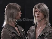 Male Wig Mannequin Head Hair #WG-ZL39-18T22