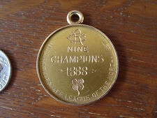 Antique 1888 14k Gold Coin Medal Baseball Trophy Award Championship Pendant