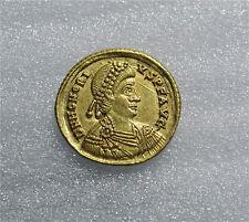 Roman Gold Solidus Coin Emperor Honorius 395-423 Ravena Mint Superb XF+