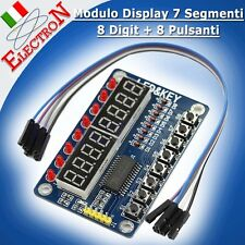 Modulo Display 7 Segmenti 8 Digit + 8 Pulsanti -TM1638 Digital 8-bit Arduino Pic