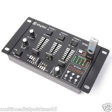 MIXER AUDIO STM-3020B 4 CANALI 6 INGRESSI LETTORE USB MP3 CROSSFADER IDEALE DJ