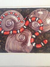 Original Watercolor Painting Milk Snake By Katerina Green