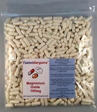 Tablet Bargains - Magnesium Oxide 160mg - 500 Capsules - Healthy Bones & Teeth