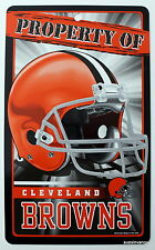 New NFL Licensed Cleveland Browns Property Sign Plastic Decor Football League