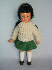Vintage Hard Plastic Irish Celtic Doll Made in Republic of Ireland