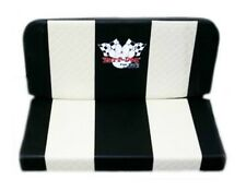 Double Vinyl Seat Creme Stripes Yerf Dog Logo Go Kart Off Road Karting Fun Cart