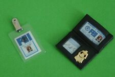 FBI IDENTIFICATION WALLET SHIELD and TAG BARBIE doll SIZE FUN PROP!
