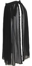 S Cabaret Gypsy Hippie Burlesque Belly Dance Dancing Panel Split Sheer Skirt