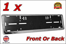 1x Delux Chrome Car Custom Number Plate Licence Holder Jaguar XF Series