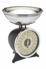 Black Enamelled Mechanical Kitchen Scale