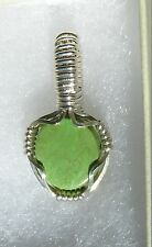 Small Natural Australian Gaspeite in Sterling Silver PENDANT (Stone 3+ cts.)