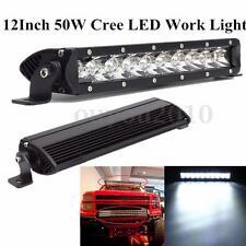 """12"""" 50W LED Phare Travail Bar Rangée Spot Pr Truck SUV Off-Road 4WD Bateau"""