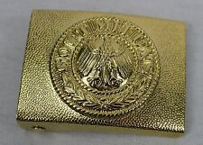 GOLD COLOUR WW1 GERMAN ARMY BELT BUCKLE REPRODUCTION GOTT MIT UNS