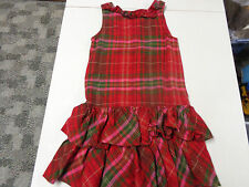 GYMBOREE COZY OWL RED PLAID JUMPER DRESS  GIRLS  SZ   10       LNW